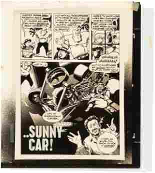 "HOT ROD CARTOONS/CARtoons ""SUNNY CAR!"" COMPLETE COMIC"