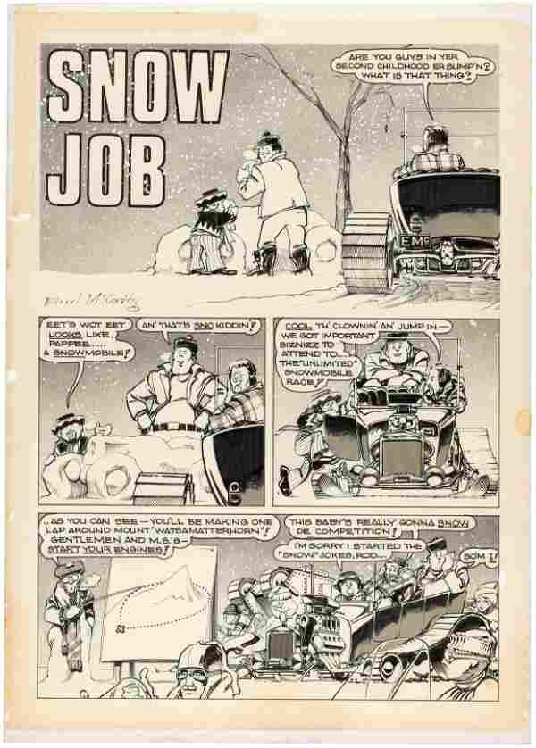 "HOT ROD CARTOONS/CARtoons ""SNOW JOB"" COMPLETE COMIC"