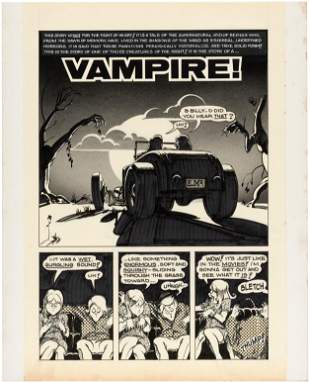 "HOT ROD CARTOONS/CARtoons ""VAMPIRE!"" COMPLETE COMIC"