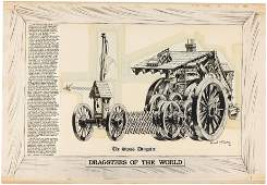 """HOT ROD CARTOONS/CARtoons """"DRAGSTERS OF THE WORLD - THE"""