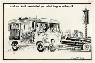 HOT ROD CARTOONS/CARtoons VW BUS ONE PAGE STORY
