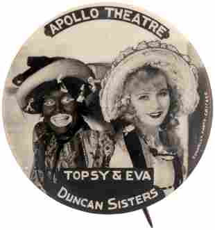REAL PHOTO BUTTON FROM APOLLO THEATRE SHOWING DUNCAN