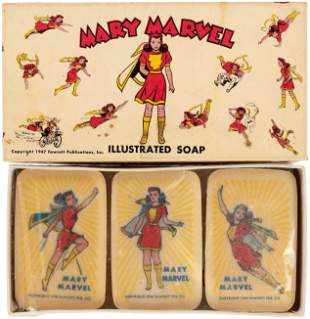 MARY MARVEL ILLUSTRATED SOAP BOXED SET.