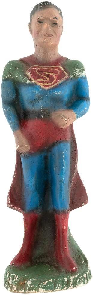 SUPERMAN CARNIVAL STATUE (FLAT BACK VARIETY).