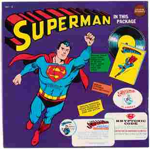 SUPERMAN GOLDEN RECORDS BOXED SET WITH SUPERMAN RECORD