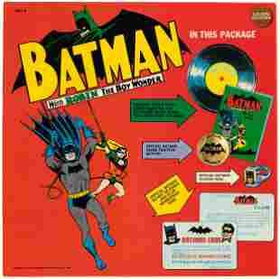 BATMAN GOLDEN RECORDS BOXED SET WITH BATMAN RECORD