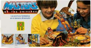 MASTERS OF THE UNIVERSE SPANISH POP-UP GAME.