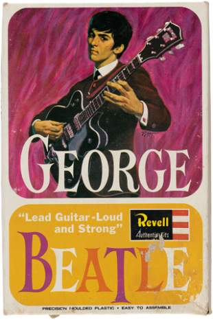 THE BEATLES GEORGE HARRISON RARE UK MODEL KIT.