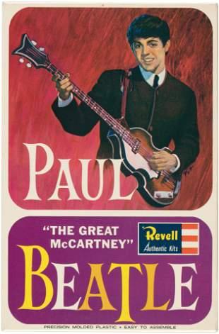 THE BEATLES PAUL McCARTNEY FACTORY-SEALED MODEL KIT.