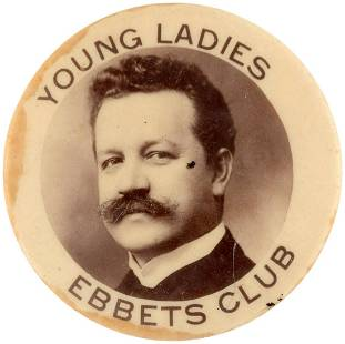 """EARLY 1900s """"YOUNG LADIES EBBBETS CLUB"""" REAL PHOTO"""