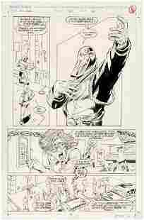 G.I. JOE #127 COMIC BOOK PAGE ORIGINAL ART BY ANDREW