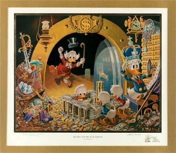 """CARL BARKS DONALD DUCK & UNCLE SCROOGE """"HANDS OFF MY"""