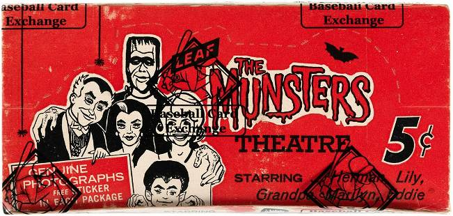 THE MUNSTERS LEAF 1964 COMPLETE WAX BOX (BBCE