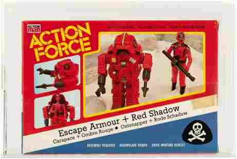 PALITOY ACTION FORCE ESCAPE ARMOUR + RED SHADOW 33 BACK