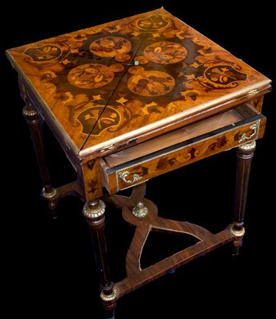 2: Very nicely inlaid Folding Table