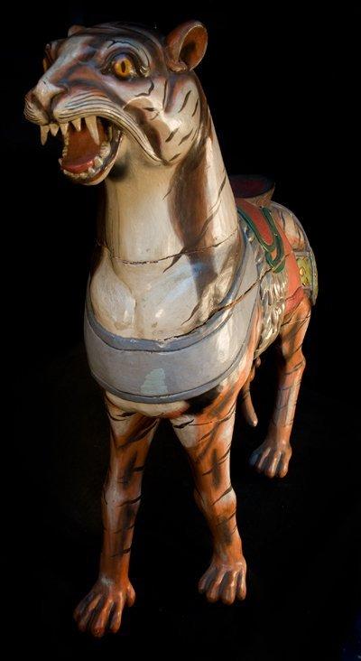 3: Tiger of a Herschell Merry-Go-Round.