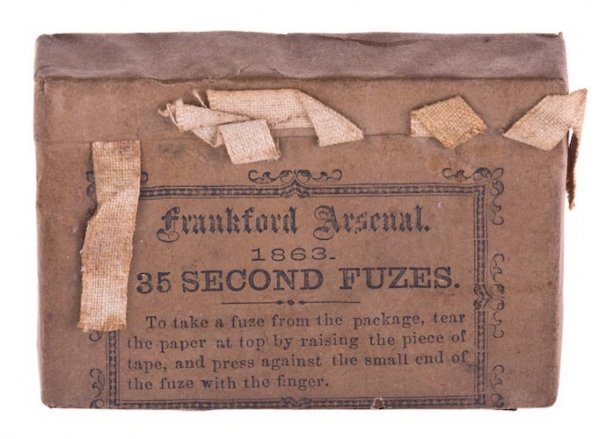 0001: 1863 Frankford Arsenal Fuse Pack.