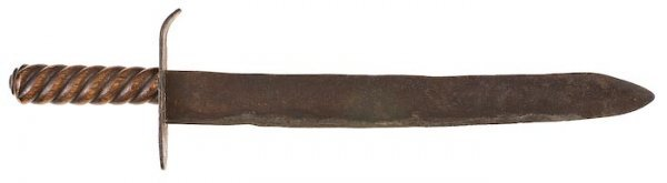 0347: Large American Hand Forged Knife.
