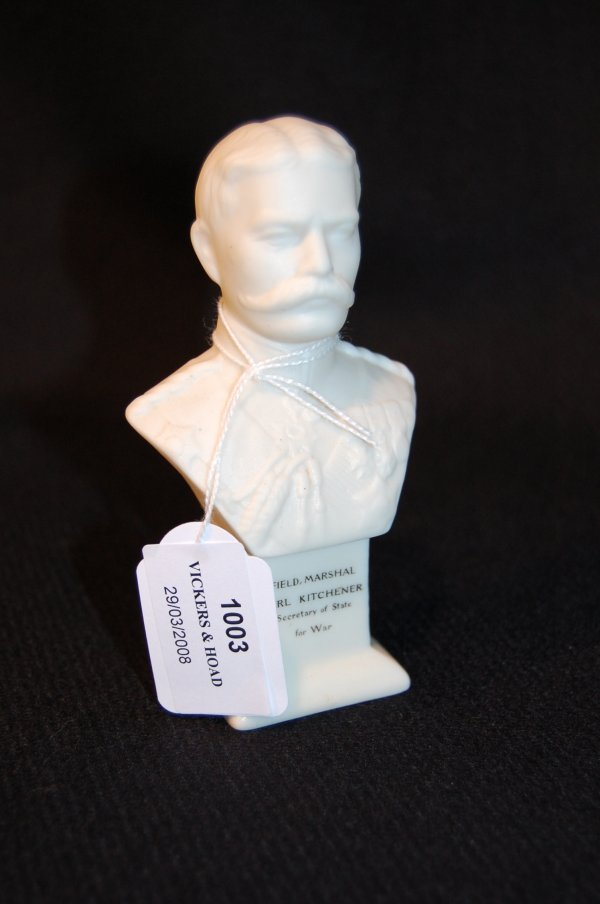 1003: Shelley parian bust, of Field Marshal Earl Kitche