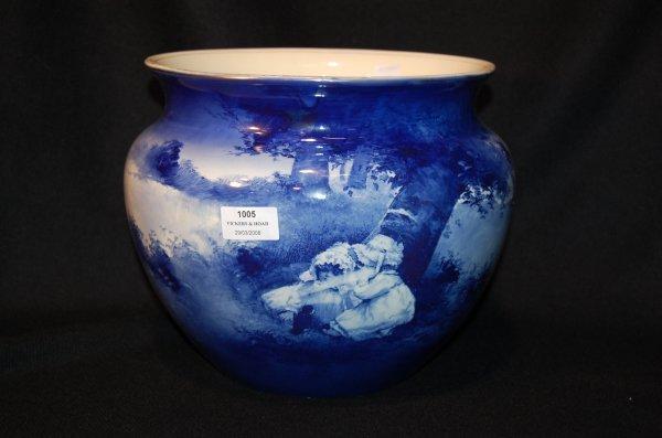 "1005: Royal Doulton "" Blue Children Series"" large jardi"