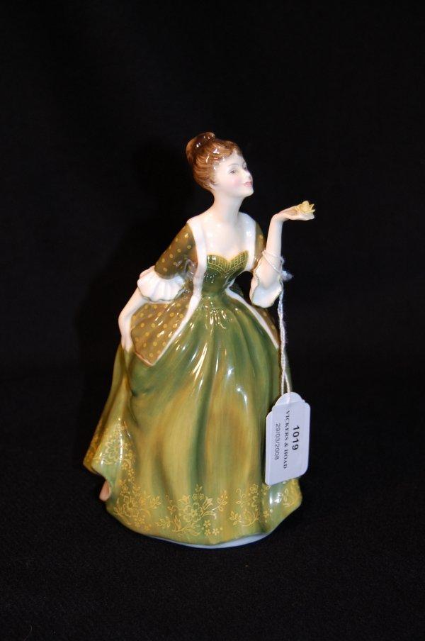 1019: Royal Doulton figure 'Fleur' designed by J.Bromle