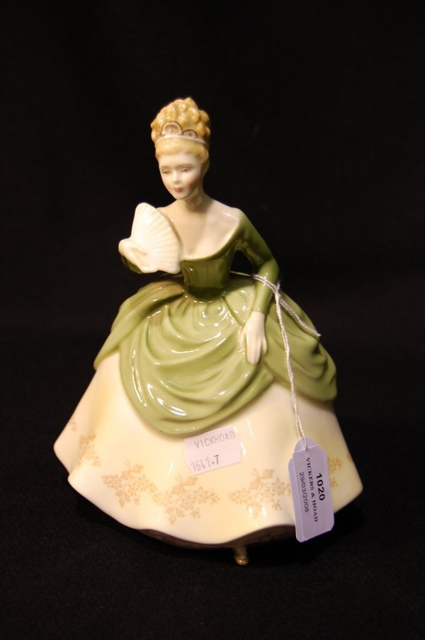 1020: Royal Doulton figure 'Soiree' designed by Peggy D