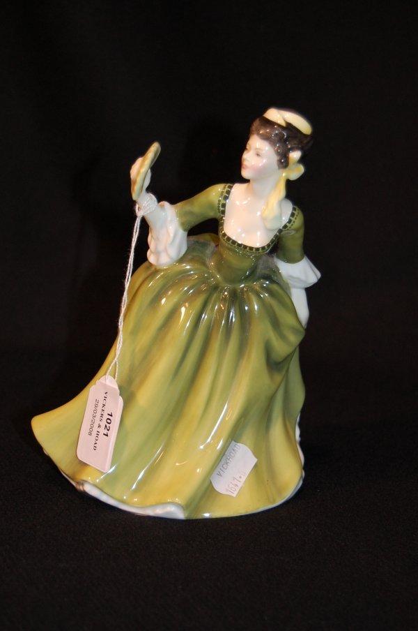 1021: Royal Doulton figure 'Simone' designed by Peggy D