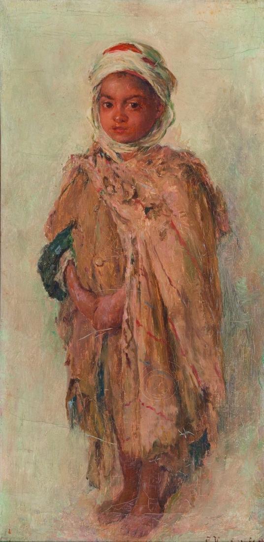 EDOUARD VERSCHAFFELT (BEL-ALG/ 1874- 1955)?Enfant arabe