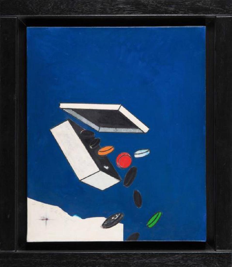 HERVE TELEMAQUE (FRA/1937) Cartes sur table, 1963 Huile