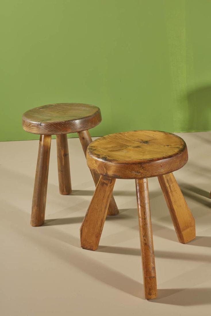 Charlotte Perriand (1903-1999) Méribel Tabouret Pin