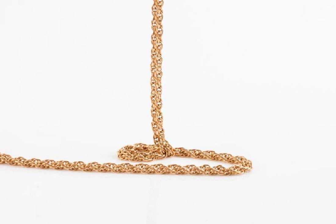 Chaîne de cou en or jaune (750 millièmes) formée d'une