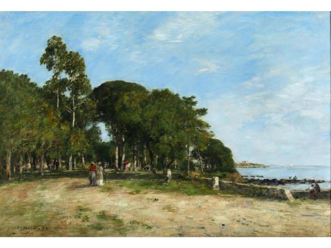 EUGÈNE BOUDIN (1824-1898) Juan-les-Pins, la promenade