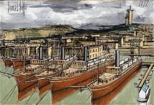 BERNARD BUFFET (1928-1999) Le port de Marseille signé