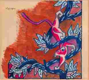 CHARLES LAPICQUE (1898-1988) Panthère avec le cachet
