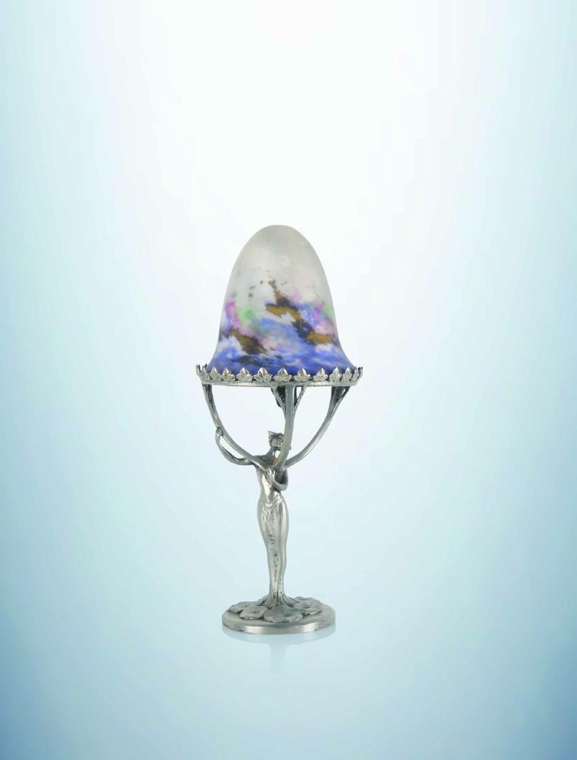 MULLER FRERES LUNEVILLE Lampe a pied metallique et