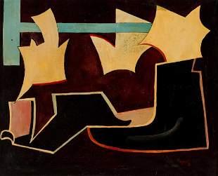 Alberto MAGNELLI (ITA/1888-1971) Sans titre, 1936 Huile
