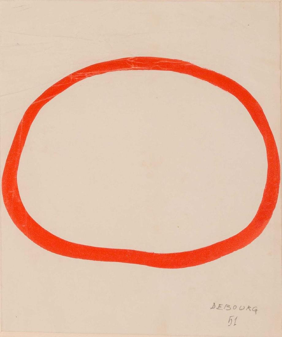 Narciso DEBOURG (VNZ/1925) Sans titre, 1951 Gouache sur