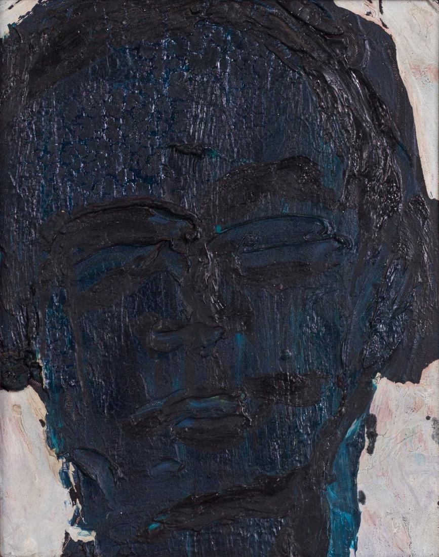 Lester F. JOHNSON (1919-2010) Blue Head, 1964 Huile sur