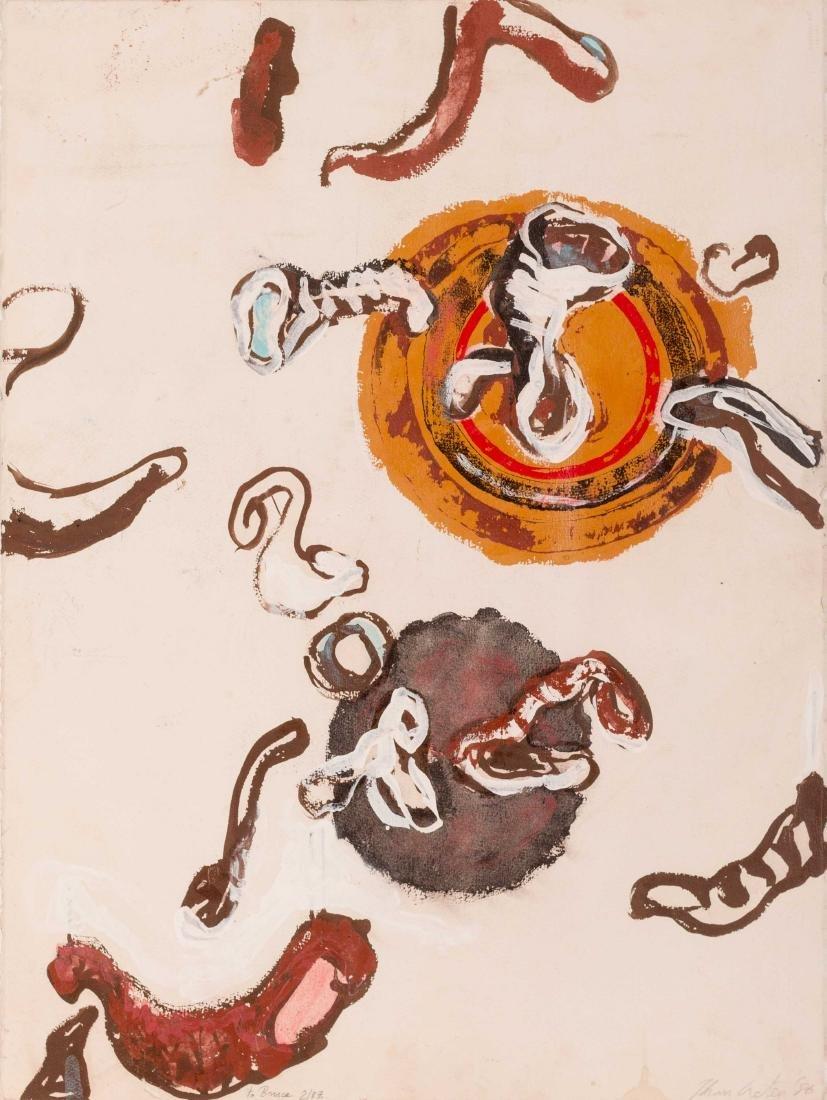 Johan CRETEN (BEL/1963) Composition abstraite, 1986