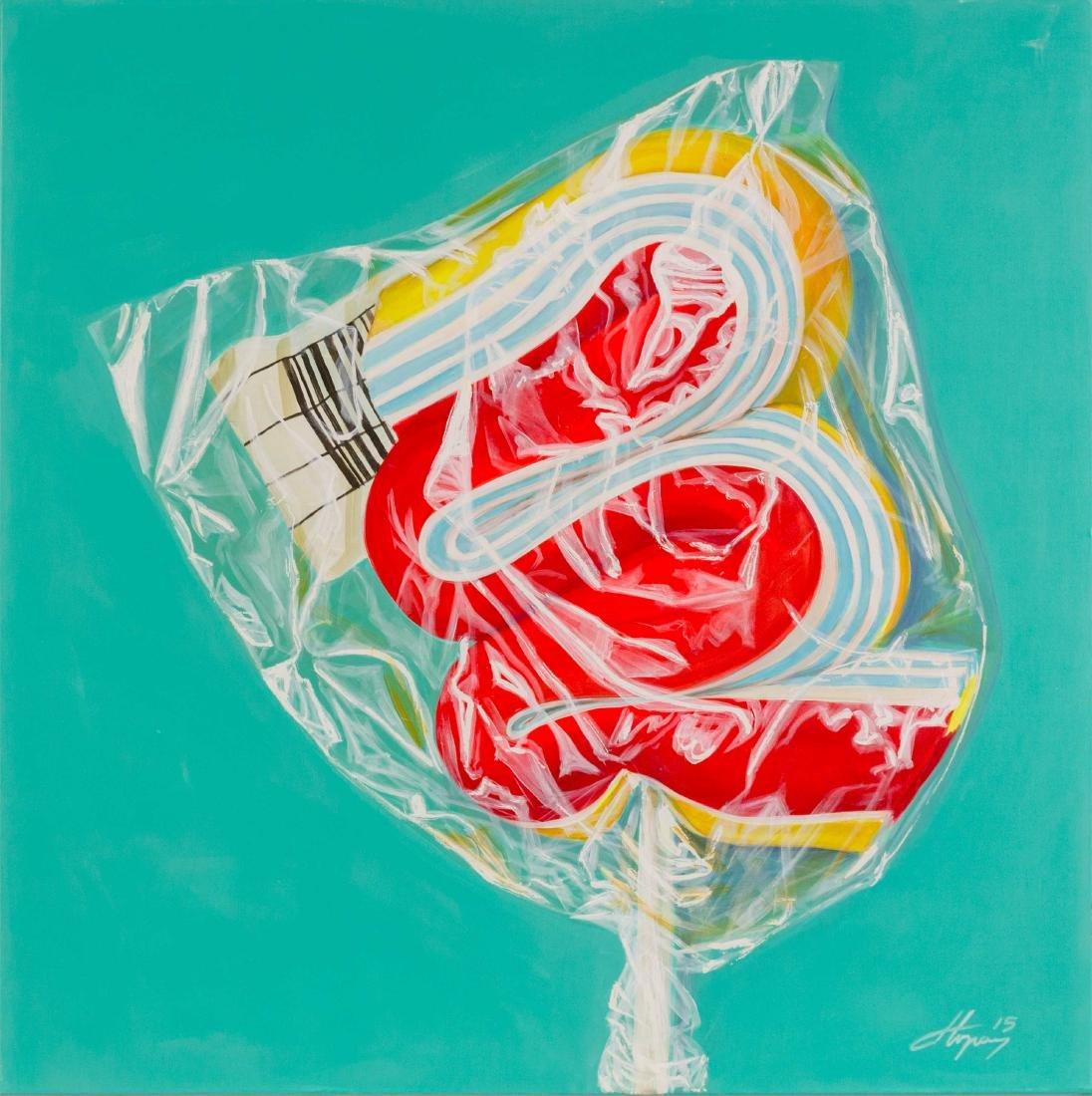 Dorel TOPAN (ROM/1963) Big Candy, 2015 Acrylique sur