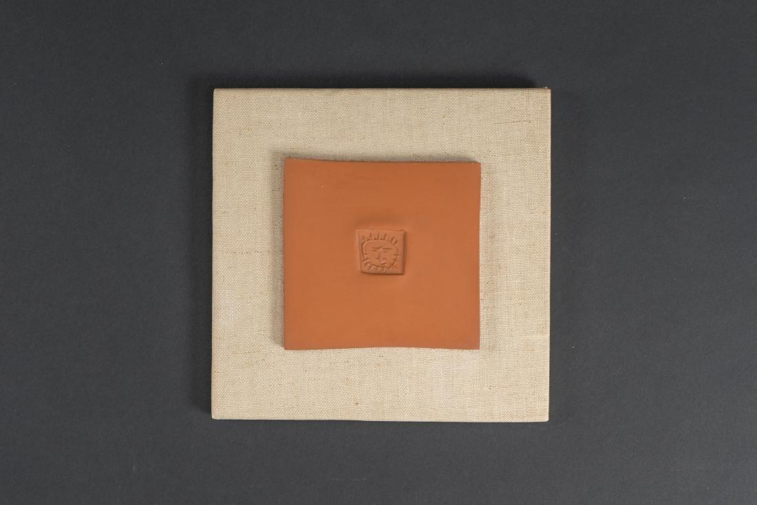 Pablo PICASSO (1881-1973)  Petit carré au soleil (A.R.