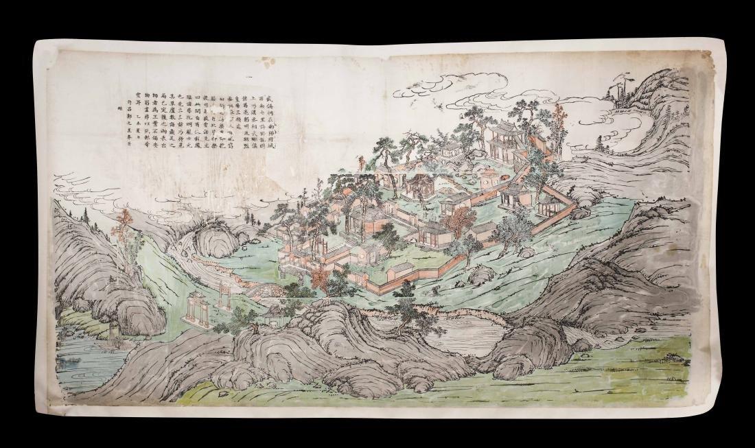 Temple de Wuhouci près de Nanyang Chine - Vers 1895