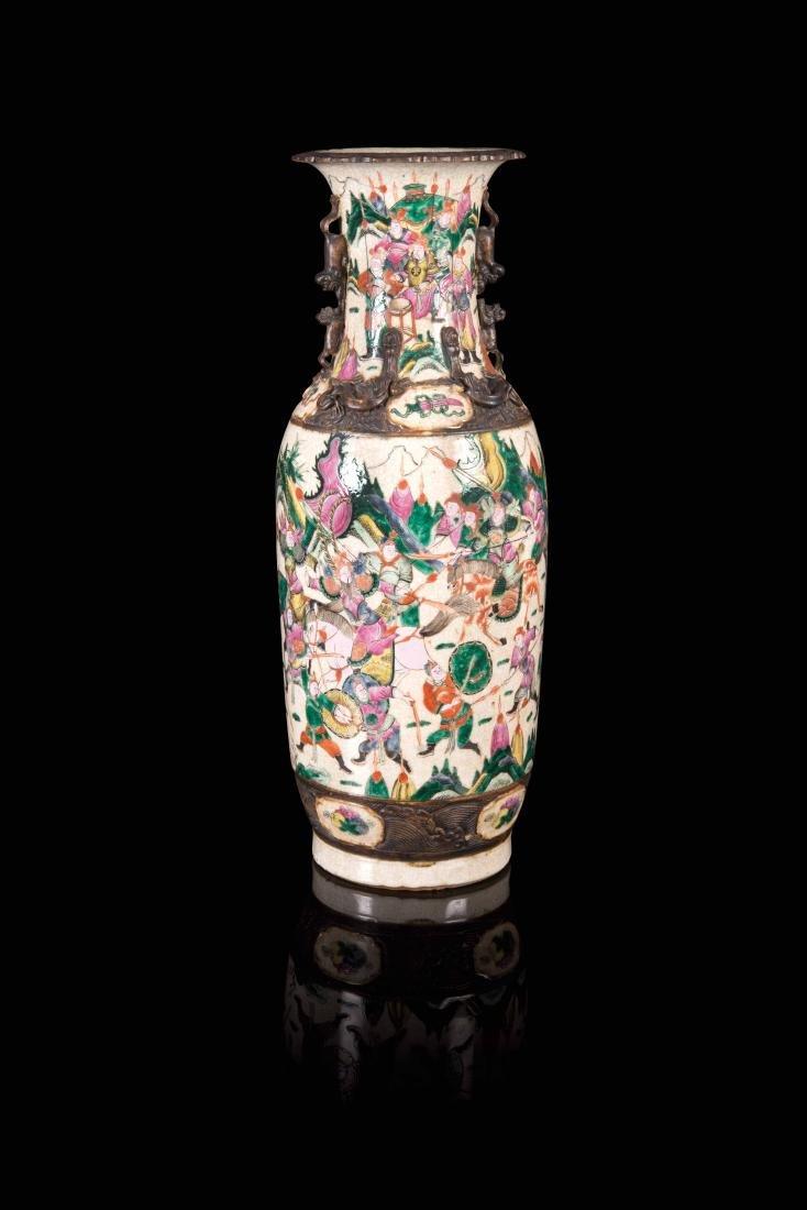 Grand vase Chine, Nankin - Fin XIXe siècle Porcelaine