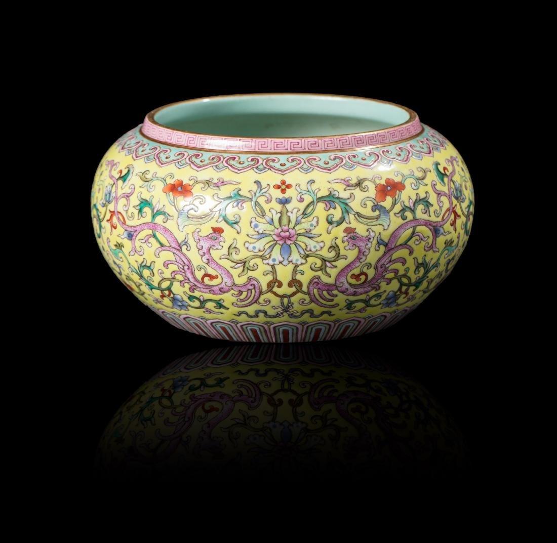 Vase ovoïde CHINE - XXe siècle Porcelaine émaillée