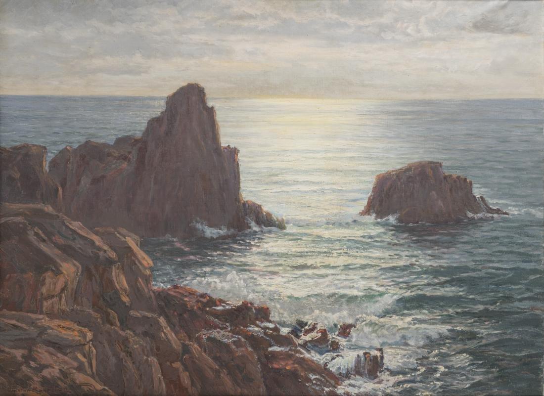 MAHOKIAN WARTAN (1869-1937) Ile de Capri Huile sur