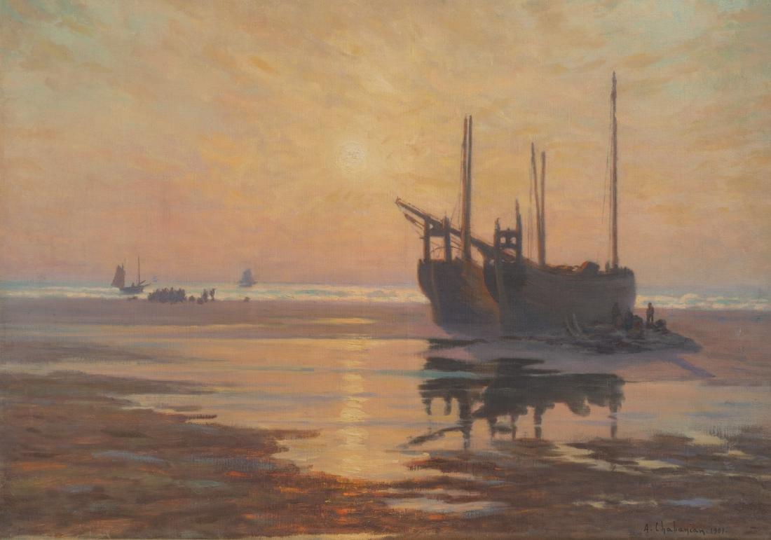 CHABANIAN ARSÈNE (1864-1949) Pêcheur en