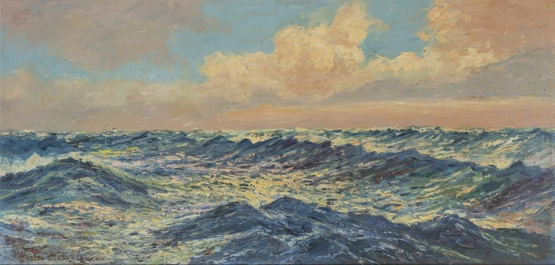 MAHOKIAN WARTAN (1869-1937) Paysage de mer Huile sur