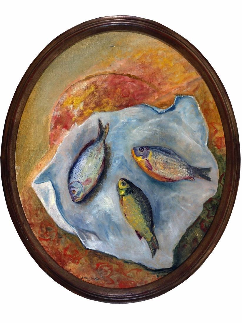 STERENBERG DAVID (1881-1948) Nature morte aux poissons