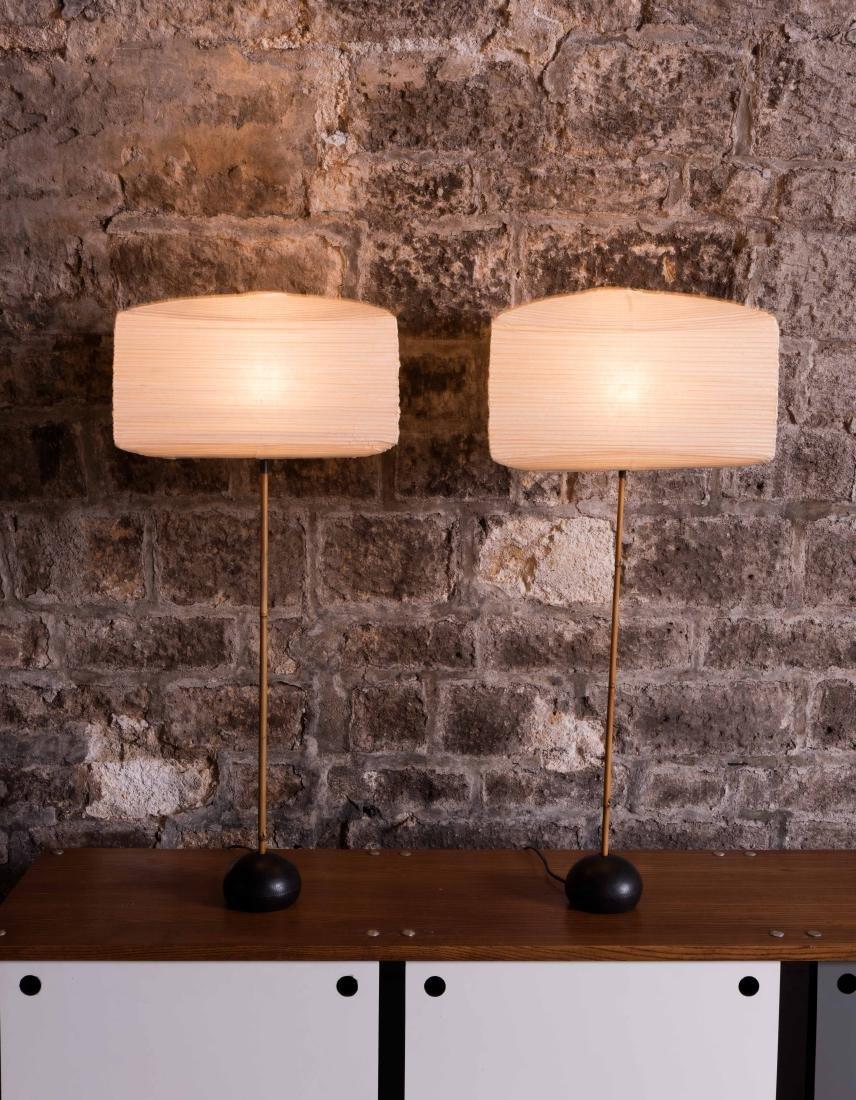 ISAMU NOGUCHI (1904-1988) Paire de lampes Papier de