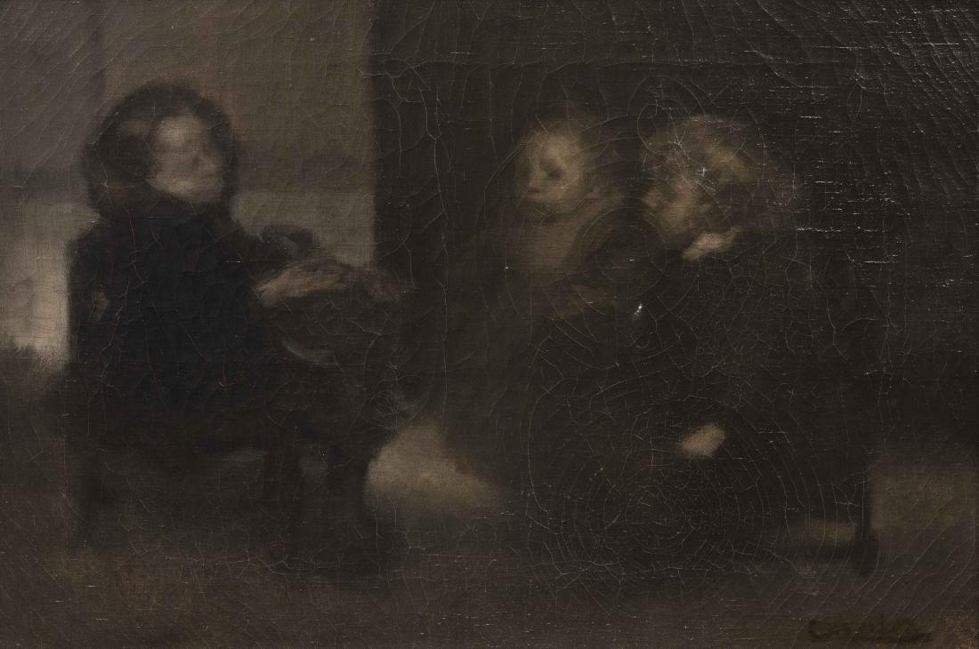 EUGE?NE CARRIE?RE (1849-1906) Conciliabule d'enfants